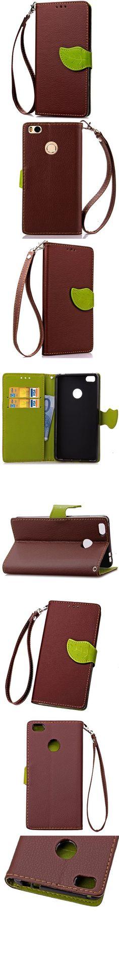 Love Leaf Card Lanyard Pu Leather for Xiaomi 4S -$4.53
