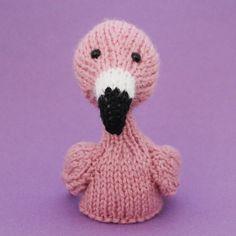 Flamingo Toy Knitting Pattern PDF by Jellybum on Etsy