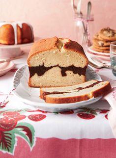 Vanilla Bean-Brownie Ripple Pound Cake Recipe