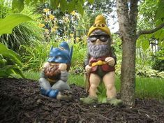 Create Superhero Garden Gnomes to Protect Crops from Pesky Animals #DIY trendhunter.com