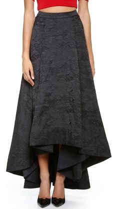 alice + olivia Cohe Asymmetical Center Pleat Skirt