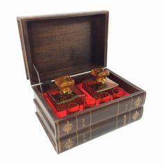 Hey, I found this really awesome Etsy listing at https://www.etsy.com/listing/213655727/vintage-hidden-decanter-bar-set-with