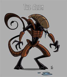 Alien model by *inkjava on deviantART