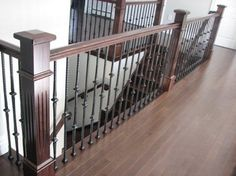 Fluted Box Newels & Metal Balusters Stairway contemporary staircase