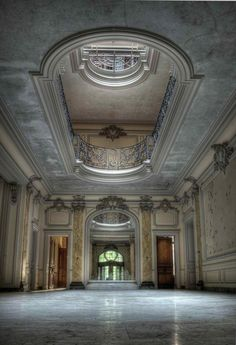 Abandoned mansion, how could anyone walk away from this ?