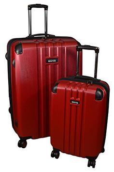 Kenneth Cole Reaction Reverb Expandable Luggage Spinner Wheeled Suitcase 2 Pc Set Red 29  20inch * Find out more about the great product at the image link.