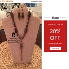 20% OFF on select products. Hurry, sale ending soon!  Check out our discounted products now: https://www.etsy.com/shop/HensleyHauteDesigns?utm_source=Pinterest&utm_medium=Orangetwig_Marketing&utm_campaign=Black%20Friday%20Entire%20Store%2020%25%20OFF!   #jewelry #elegant #boutique #etsy #etsyshop #etsygifts #smallbiz #freeshipping #sale