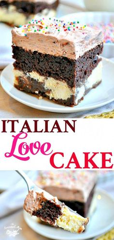 This Italian Love Cake is an easy chocolate dessert recipe that starts with a box of cake mix, so even your kids can help with the baking! This Chocolate Italian Love Cake starts with a boxed cake mix for an easy dessert recipe that only looks fancy! Easy Chocolate Desserts, Chocolate Cake Mixes, Mini Desserts, Chocolate Recipes, Easy Desserts, Delicious Desserts, Easy Italian Desserts, Chocolate Box, Italian Chocolate Cake Recipe