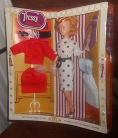 Vintage 1960's American Character Tressy FASHION SHOP GIFT SET Unused #DollswithClothingAccessories