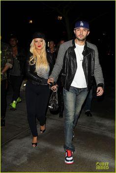 Christina Aguilera & Matthew Rutler: Rihanna Concert Date!