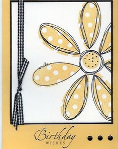 Pick A Petal - Birthday Wishes by ddaniels - Cards and Paper Crafts at Splitcoaststampers Birthday Cards For Her, Homemade Birthday Cards, Birthday Wishes, Homemade Cards, Flower Stamp, Flower Cards, Cards For Friends, Tampons, Snail Mail