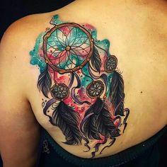 Dream catcher tattoo -Uploaded by LyndaAnn
