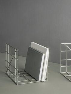 Square Magazine Holder - Light Grey 2
