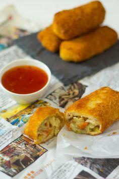 Recept kip risolles Indonesische snack. Maak er veel en vries ze in!