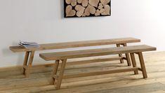 Panca in legno di larice patinato