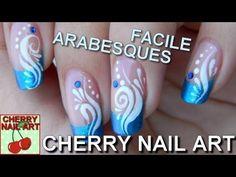 NAIL ART facile tuto french et arabesques