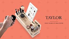 Taylor Beauty Station  Daily Makeup Organizer with Mirror >>> Check this awesome product by going to the link at the image.