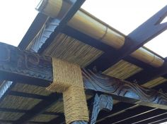 update: faux bamboo rain gutters now with installed photo -- Tiki Central