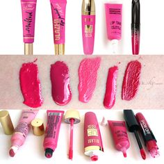 MAC By Request lipstick swatches: Candy Yum Yum, Moxie, Rocker ...