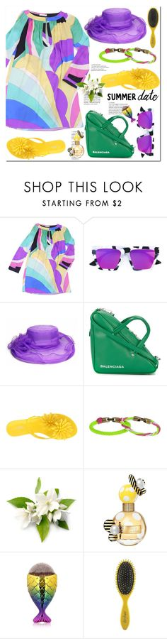 """Без названия #2846"" by ilona-828 ❤ liked on Polyvore featuring Emilio Pucci, McQ by Alexander McQueen, Balenciaga, Melissa, L4K3, Marc Jacobs, Drybar and summerdatenight"