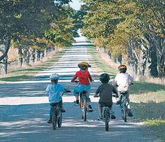 I loved riding my bike with my friends