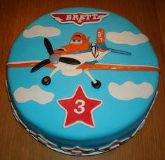 Planes taart voor Brett