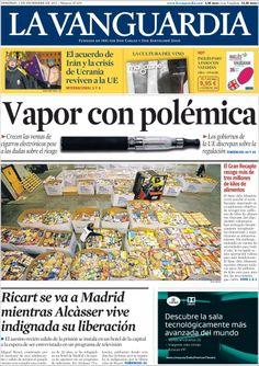 Los Titulares y Portadas de Noticias Destacadas Españolas del 1 de Diciembre de 2013 del Diario La Vanguardia ¿Que le pareció esta Portada de este Diario Español?
