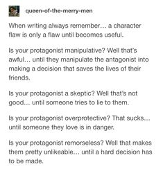 GIVE ME ALL THIS CHARACTER DEVELOPMENT GUIDES TUMBLR