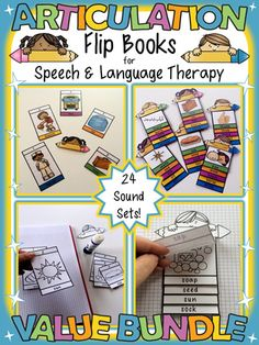Articulation Flip Books for Speech & Language Therapy by teachingtalking.com