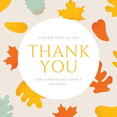 This is a nice Rodan + Fields customer thank you as we get into Fall.