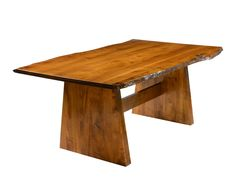 WooBayport Live Edge Table by The Country Woodshop shown in Brown Maple with Malaguania stain.d-n-Choices