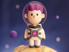 Little Spaceman designed by Jeremy Edelblut. Connect with them on Dribbble; Character Modeling, 3d Character, Character Concept, 3d Modeling, 3d Design, Game Design, Detail Design, Benjamin Rojas, Modelos 3d