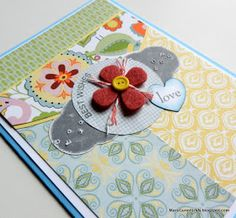 Little bit of this, little bit of that is what this card is!     Chantilly papers are the base, but then there is a little Cricut cut p...