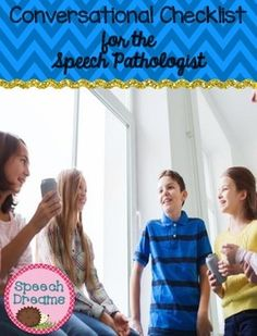 Conversational Speech Skills Checklists. Repinned by SOS Inc. Resources pinterest.com/sostherapy/.