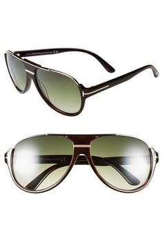 Tom Ford 'Dimitry' 59mm Aviator Sunglasses ----- My new shades (found a guy to make them prescription - amazing)