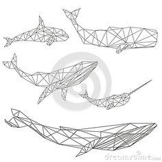 Ensemble géométrique de baleine                              …