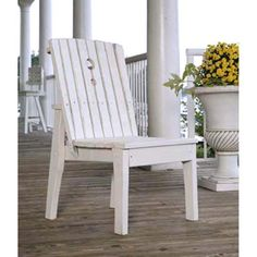 Uwharrie Behrens Outdoor Armless Dining Chair - B096-0
