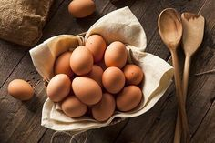 Find Raw Organic Brown Eggs Basket stock images in HD and millions of other royalty-free stock photos, illustrations and vectors in the Shutterstock collection. Egg Yolk Recipes, Healthy Egg Recipes, Real Food Recipes, Healthy Food, Cured Egg Yolk, Croq Kilo, Egg Hacks, Domestic Geek, Blood Sugar Diet