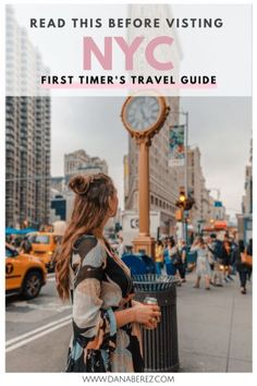 Detailed First Timers Guide to NYC Top Tips from A Local. Answering your questions on Where to Stay, Where to Eat, and What to do- Dana Berez. An ultimate detailed first timers guide to NYC with top tips from a local- me! If you have questions on where New York Travel Guide, New York City Travel, Packing Tips For Travel, New Travel, Travel Alone, Travel Essentials, Travel Usa, Travel Hacks, Time Travel