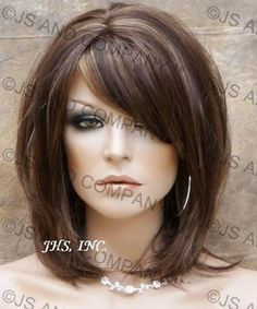 Delightful NEW STYLE! Layered Straight  Brown Auburn mix  WIG TRDD