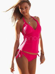 Sexy V-Neck Halter Swimsuit
