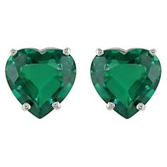 Cute and simple for every day :) my birthstone.  heart shaped emerald earrings - target.