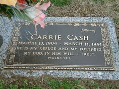 ray and carrie cash gravesite