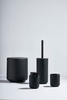 These new bathroom essentials from Zone is designed with clean lines and round shapes. They come in black, grey and red. Bathroom Red, Modern Bathroom, Bathrooms, Interior Architecture, Interior Design, Bathroom Essentials, Clean Lines, Little Things, Home Accessories