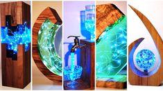 Diy Resin Lamp, Resin And Wood Diy, Diy Resin Table, Epoxy Resin Table, Epoxy Resin Art, Diy Resin Crafts, Wood Resin, Resin Wall Art, Resin Tutorial