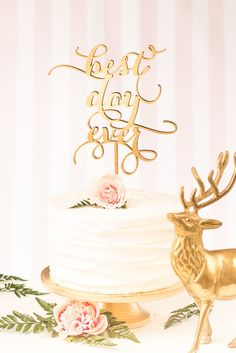 Best Day Ever - 3 tiered - Cake Topper