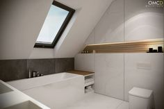 House Rooms, Small House Design, Bathroom Plans, Bathroom Inspiration Modern, House Design, Bathroom Decor, Attic Bathroom, Small Bathroom Layout, Bathroom Interior Design