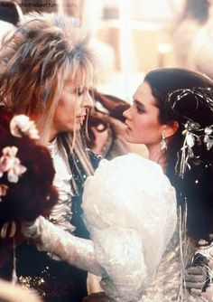 The Labyrinth 🖤 (One of my all time favorite movies~. I love David Bowie as Jared - the Goblin King - and how Sarah became stronger throughout the movie) David Bowie Labyrinth, Labyrinth Film, Labyrinth Tattoo, David Bowie Goblin King, Sarah Labyrinth, Labrynth, Film Aesthetic, Jennifer Connelly, Movies