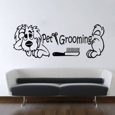 Grooming Salon Wall Decor Quote Pet Grooming by VinylDecals2U