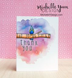 Video: Watercolor 2 Ways: Zig Clean Color Markers + Distress Inks - #Background | Michelle Yuen Design